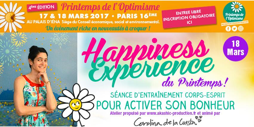 Cultiver Son Bonheur Carolina de la Cuesta HE Printemps 18 mars 2017 Printemps de l'Optimisme