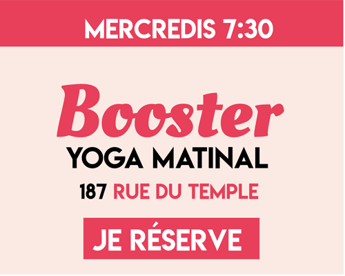 Yoga du Bonheur - Booster matinal - Anxiété - Stress -Carolina de la Cuesta - Yoga Paris - Cultiver Son Bonheur - Happyculture Paris
