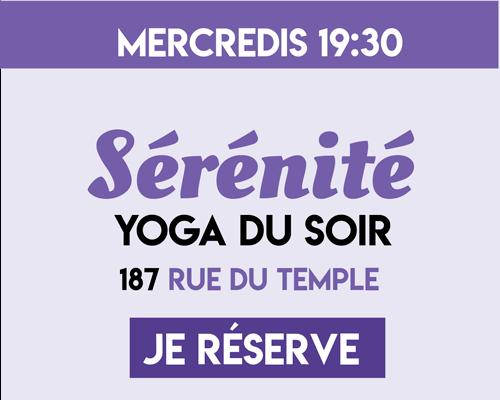 Yoga du Bonheur - Sérénité - Yoga du Soir - - Anxiété - Stress -Carolina de la Cuesta - Yoga Paris - Cultiver Son Bonheur - Happyculture Paris