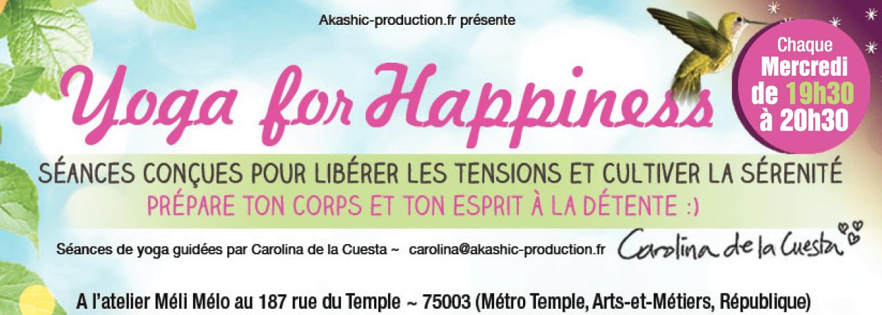 Yoga for Happiness du soir avec Carolina de la Cuesta